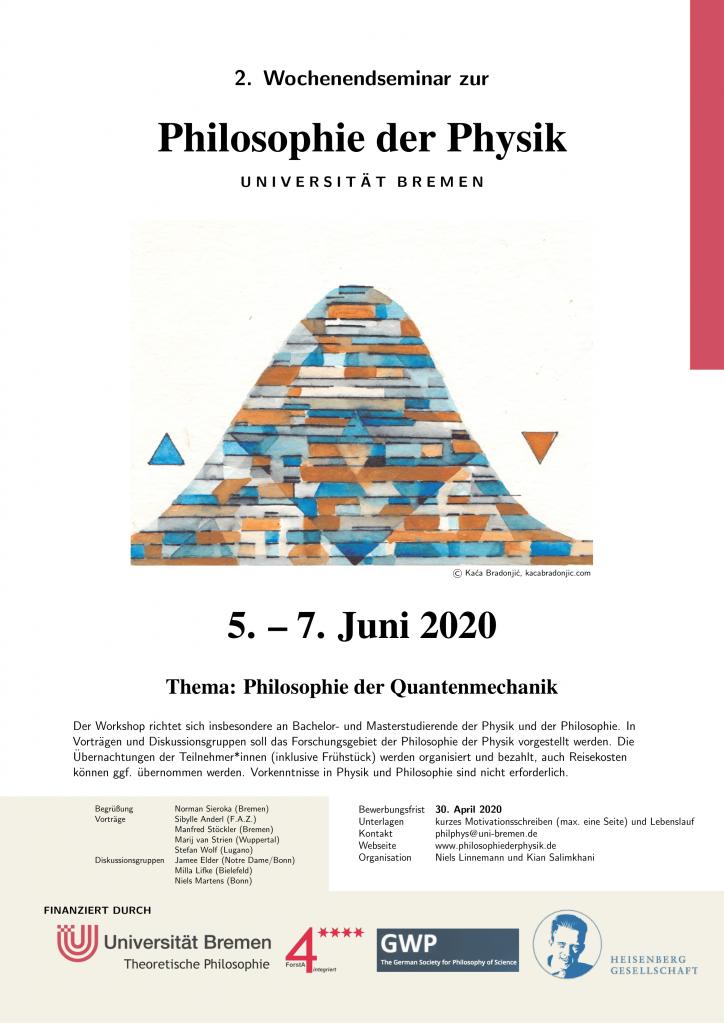 2. Wochenendseminar (5.-7. Juni, 2020)